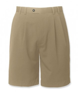 Cutter & Buck« Big Mens Pleated Gabardine Microfiber Shorts (Big & Tall and Regular Sizes)