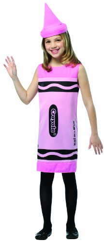 Crayola Costume Pink (Rasta Imposta Crayola Tank Dress, 7-10, Tickle Me Pink)