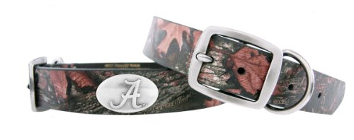 Zep-Pro Alabama Crimson Tide Camo Leather Concho Dog Collar, X-Large, My Pet Supplies