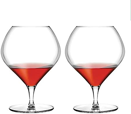 YUN&DSC Brandy Red Copas de Vino Vidrio del Vino Blanco de Borgoña - Burdeos - Champagne Elegante en Caja de Regalo Paquete sin Plomo de 2 (Color : Clear, Size : Brandy 870ml)