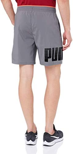 PUMA Men's Collective Woven Short, Castlerockpuma Black, S