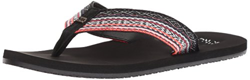 (Billabong Women's Baja Sandals Black Coral 7)