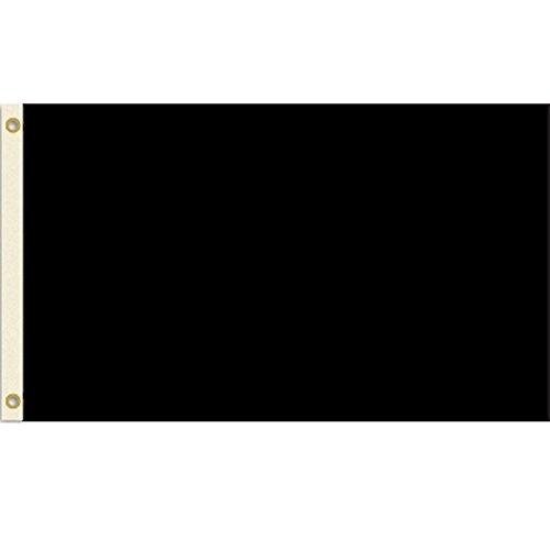 Solid Black 3x5 Nylon Flag