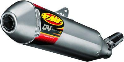 FMF Racing Q4 Spark Arrestor Slip-On - Hexagonal Muffler - Stainless Midpipe, Material: Aluminum 045521
