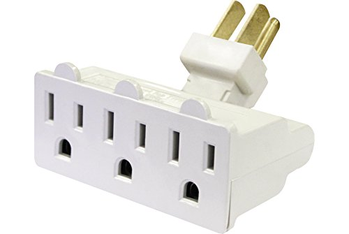 POWTECH 3 Outlet Swivel Wall Adapter [UL Listed]- Grounding Wall TAP 3 Prong- 7807AA