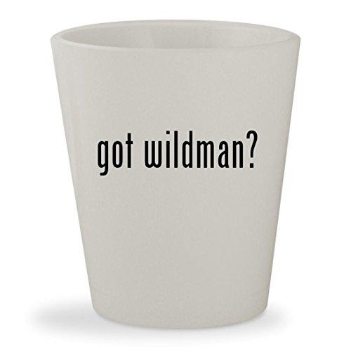 got wildman? - White Ceramic 1.5oz Shot - Oliver Poeples