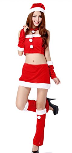 ouxiuli Women's Slim Fit Santa Claus Dress Costume 14 (Sexy Dorthy Costumes)