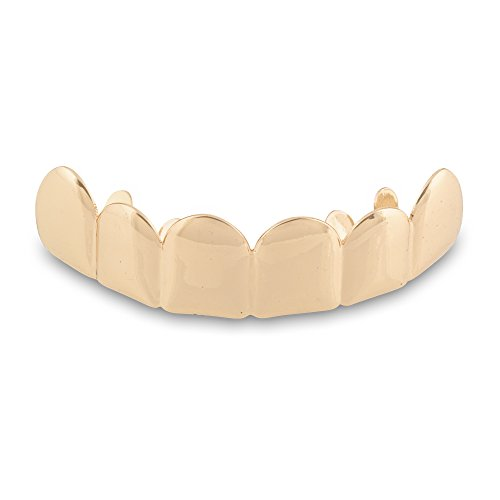 """""""Flash Deal"""" Hip Hop High Quality Gold Plated Removable Mouth Grillz Set (Top and Bottom) Player Style"""