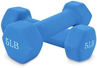 Lsocmose Barbell Set of two All-Purpose Dumbbells in Pair Neoprene Coated Dumbbell Weights for Women Men (3, 5, 8, 10 lb)