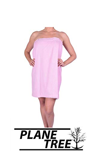 (PLANE TREE Women's Spa Towel - Cotton Terry Velour Pool, Gym, Body Wrap - Pure Turkish Soft Cotton Towels(LightPink))