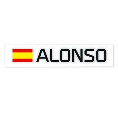 McLaren Honda team F. Alonso stickers B-cutting character style