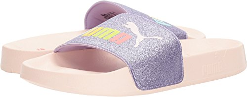 PUMA Kids Girl's Leadcat Glitz (Big Kid) Purple Rose/Pearl 4 M US Big Kid (Big Purple Slide)