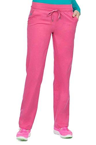 (Med Couture Signature Yoga Drawstring Scrub Pant for Women, Bubblegum/Spearmint, X-Large Petite)