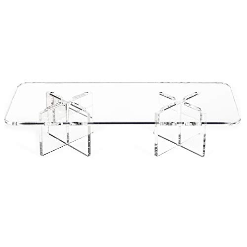 Clear Choice, Acrylic Rectangle Disassemble Riser Display Stand Multipurpose Tabletop Risers for Displaying Personal or Business Decor, Cupcakes | Clear, Stable (8 Wide X 4 DEEP X 2 HIGH)