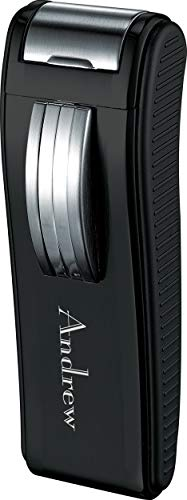 - Personalized Visol Dark Knight Single Torch Cigar Lighter with Free Laser Engraving (Text)