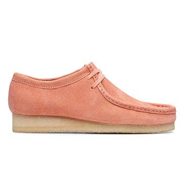 CLARKS Wallabee Mens Shoes Coral Suede 26140973: