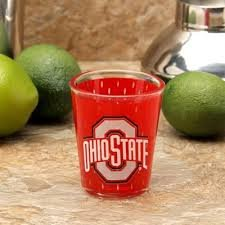 Ohio State Buckeyes 2oz jersey shot glass