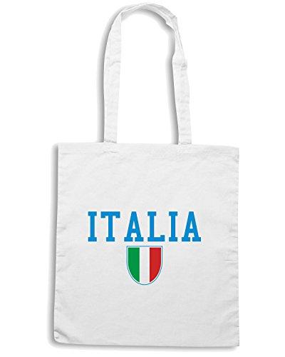 T-Shirtshock - Bolsa para la compra T0583 italia calcio ultras Blanco
