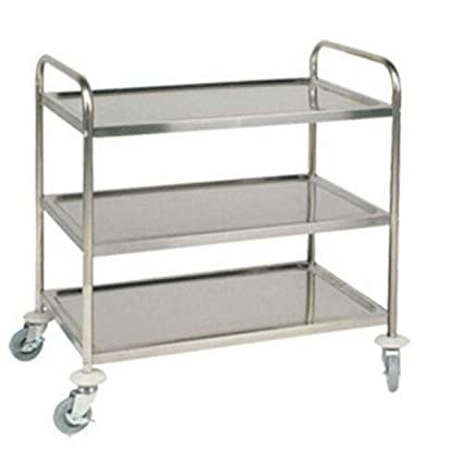 Vigneshwara Stainless Steel 3 Shelves Trolley 30