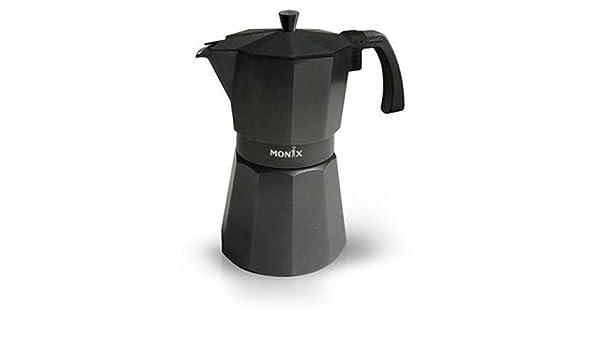 Monix VitroMax Black 9, Negro, Aluminio - Cafetera italiana: Amazon.es: Hogar