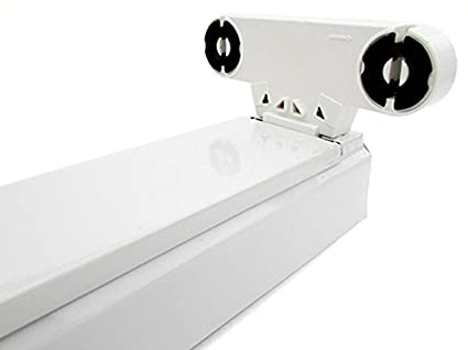 Plafoniere Per Tubi Led : Porta lampada plafoniera per doppio tubi led t da cm interno