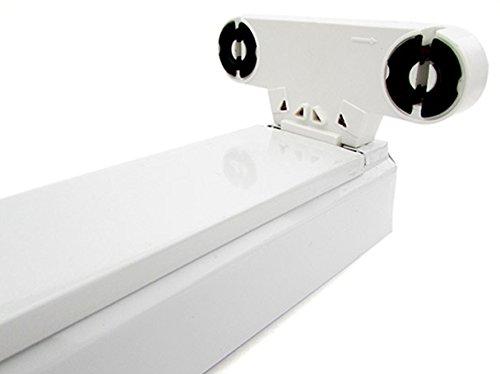 Plafoniere Per Tubi Neon : Porta lampada plafoniera per doppio tubi led t da cm interno