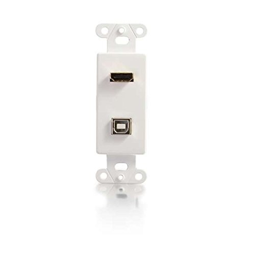 C2G/Cables to Go 39702 HDMI and USB Pass Through Decora Style Wall Plate, White
