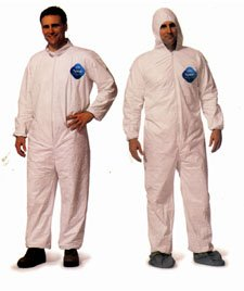 Lakeland Dupont Tyvek Coveralls With Hood, Boots And Elastic Wrists, 25 Per Case - Size 3X-Large