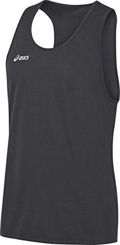 Mens Singlets Clothing Running (ASICS Men's Rival Ii Singlet, Steel Grey, Medium)