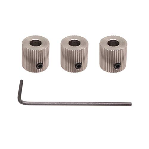 WINSINN MK8 Drive Gear Extruder Hotend Feeder 40 Teeth 5mm Bore Stainless Steel for CR-10 CR10 Prusa I3 (Pack of 3Pcs)