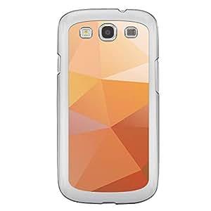 Loud Universe Samsung Galaxy S3 5 Geometrical Printing Files A Geo 31 Printed Transparent Edge Case - Orange