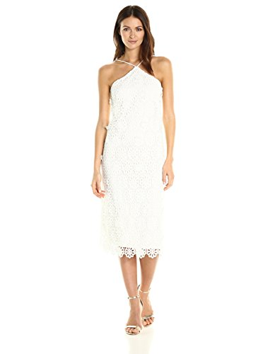 Trina Turk Women's Conga La Flor Lace Midi Dress, White Wash, (2 Conga)
