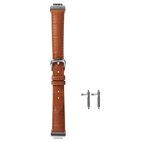 - Redvive Top for Fitbit Inspire Alligator Skin Leather Watch Strap Band