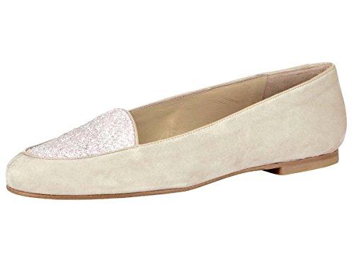 Heine - Best Connections Damen-Schuhe Slipper Braun
