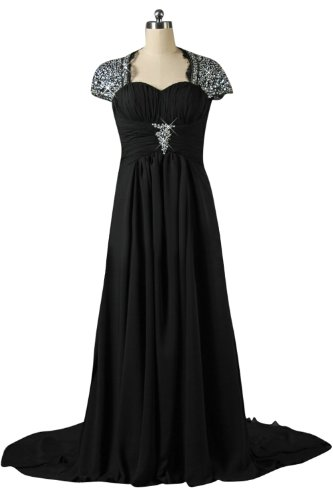 Sunvary Cap Sleeves Plus Size Chiffon Mother of the Bride Dresses