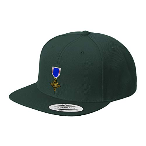 Snapback Baseball Hat Distinguished Service Cross Embroidery Unit Acrylic Cap Snaps - Spruce Green, Design Only