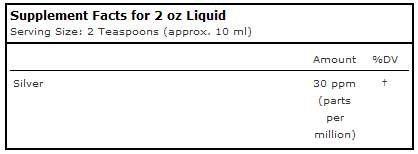 Source Naturals Wellness Colloidal Silver Liquid Subligual Pure, Premium Silver Mineral Supplement - 2 oz