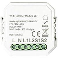 Kingled - 2-kanaals Triac dimmer - dimmer module voor 2 knoppen - Smart WiFi compatibel met Alexa, Google en smartphone.