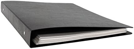 11x17 Round Ring Poly Binder 14 x 8.5 Inches, Black (412610)