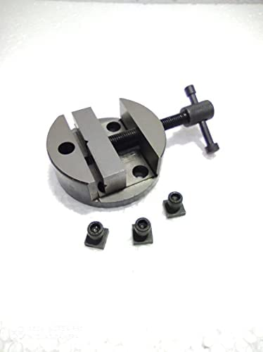 """Special_Collection 3"""" Round vice for rotary milling indexing table with the -nuts engineering tool 80 mm"""