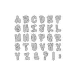 Momenta Cut & Emboss - Uppercase Handwritten Alphabet - Uppercase Alphabet Dies