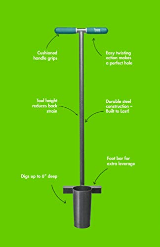 Yard Butler Heavy Obligation Sturdy Metal Lengthy Dealt with Bulb Backyard Yard Planter Software
