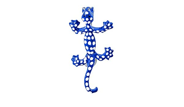 Blue Lizard Gecko Reverse Top Mount Belly Button Navel piercing bar body jewelry Ring 14g