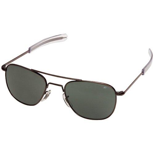 AO Eyewear Original Pilot Sunglasses 52mm Frames with Bayonet Temples and True Color Grey Glass Lenses - Sunglass Optical Warehouse