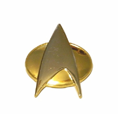 Pin All Game Star (Star Trek The Next Generation Half Size Communicator 1 1/4″ Tall Metal Enamel Pin)