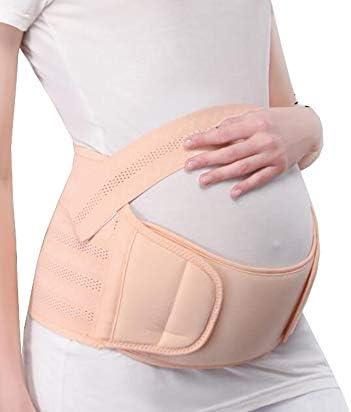 マタニティサポートベルト、妊娠中の女性は妊娠中の通気性保護ベルト付き胃ベルトをサポート,L