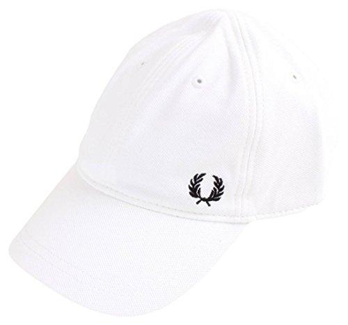 FRED PERRY sombrero de hombre con visera 102 HW3650 Blanco