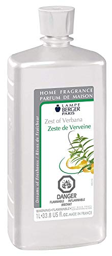 Zest of Verbena | Lampe Berger Fragrance Refill for Home Fragrance Oil Diffuser | Purifying and perfuming Your Home | 33.8 Fluid Ounces - 1 Liter | More than 40 Fragrances | Made in France
