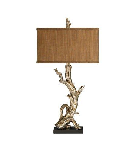 Amazon.com: Lámparas de Mesa 1 Luz con hoja de plata acabado ...