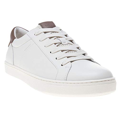 Coach Leather C121 Mens Sneakers White (Coach Shoes For Men Sneakers)